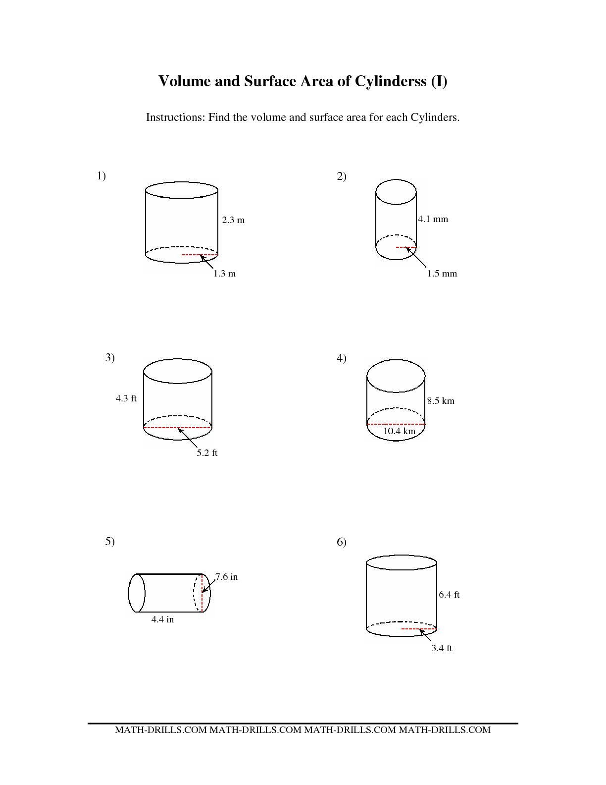 hight resolution of Cylinder Cone Volume Rate Worksheets   Printable Worksheets and Activities  for Teachers