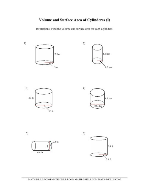 small resolution of Cylinder Cone Volume Rate Worksheets   Printable Worksheets and Activities  for Teachers