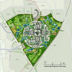 Master Plan Architecture Bubble Diagram Bi Amp Wiring Adrian Smith Gordon Gill Tianfu Ecological City Aerial
