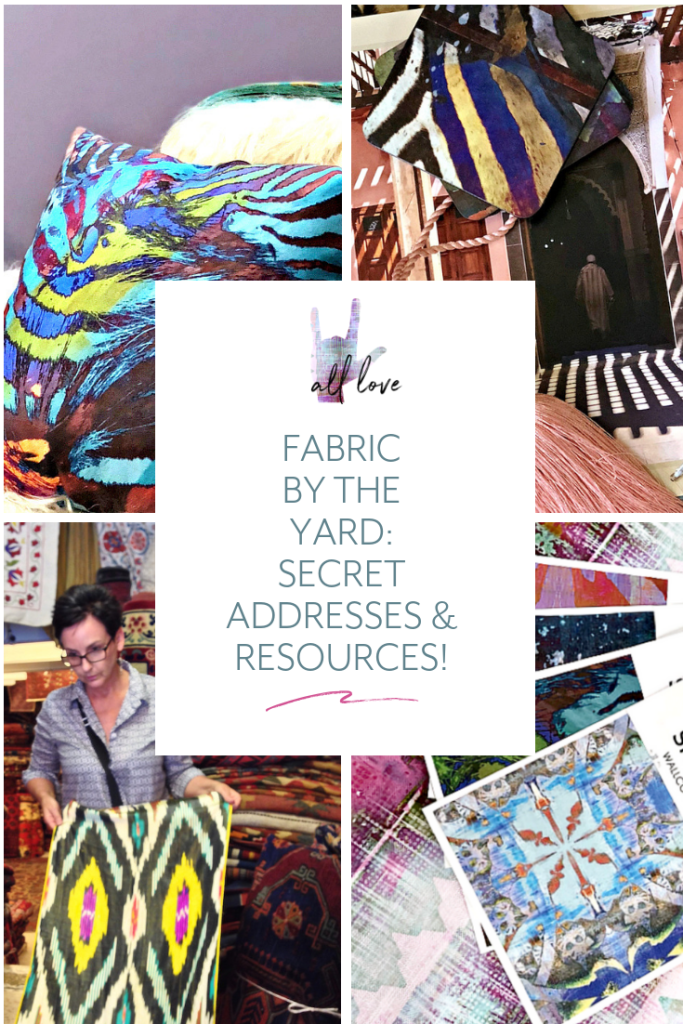 Secret fabric stores from all over the world. Discover books, magazine resources, secret shopping mecca for fabric by the yard and designer upholstery fabrics.