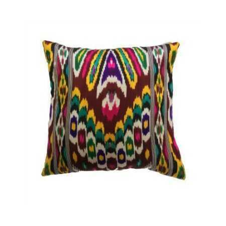 Bright Silk Ikat Pillow