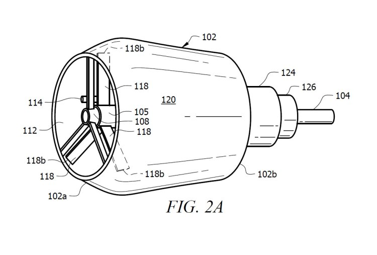 Figure 2A of U.S. Patent 10180083 for a convertible ducted fan engine.