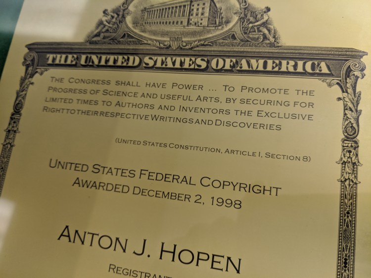 United States Copyright Registration