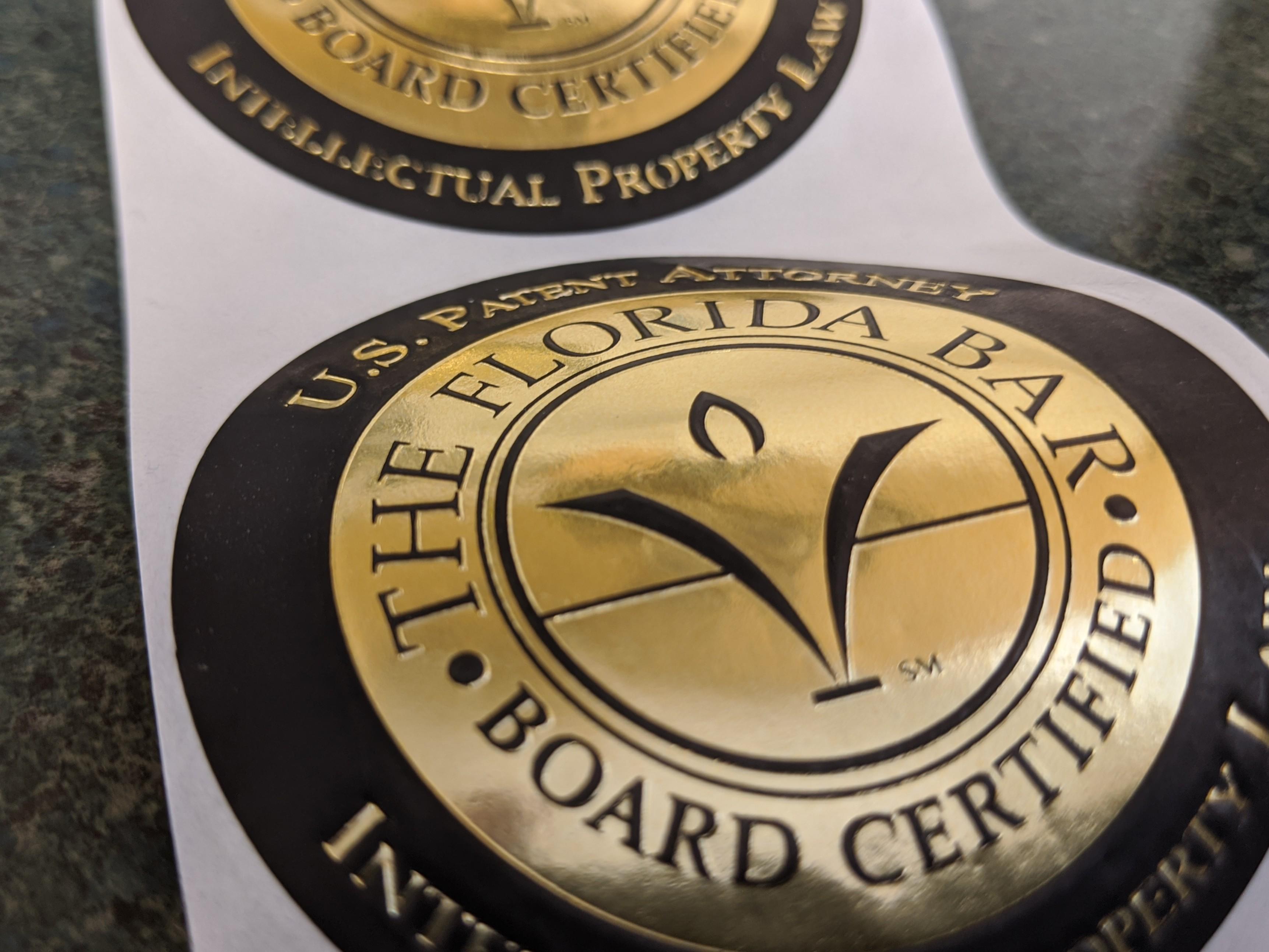 Branding of Florida Bar Board certification designation