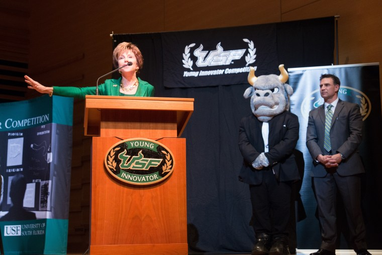 USF President Judy Genshaft and Anton Hopen at USF