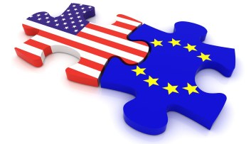 United States and EU puzzle pieces.