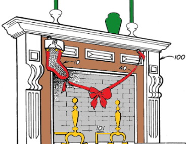 Fireplace patent for detecting Santa's arrival