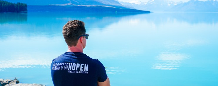 Smith & Hopen partner taking in the view in New Zealand.