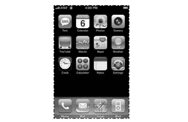 Apple Design Patent D604305 for a GUI that was asserted against Samsung.