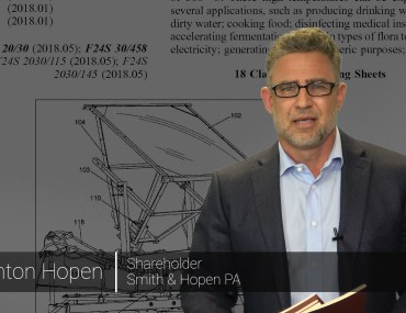Anton Hopen discussing patent grants.