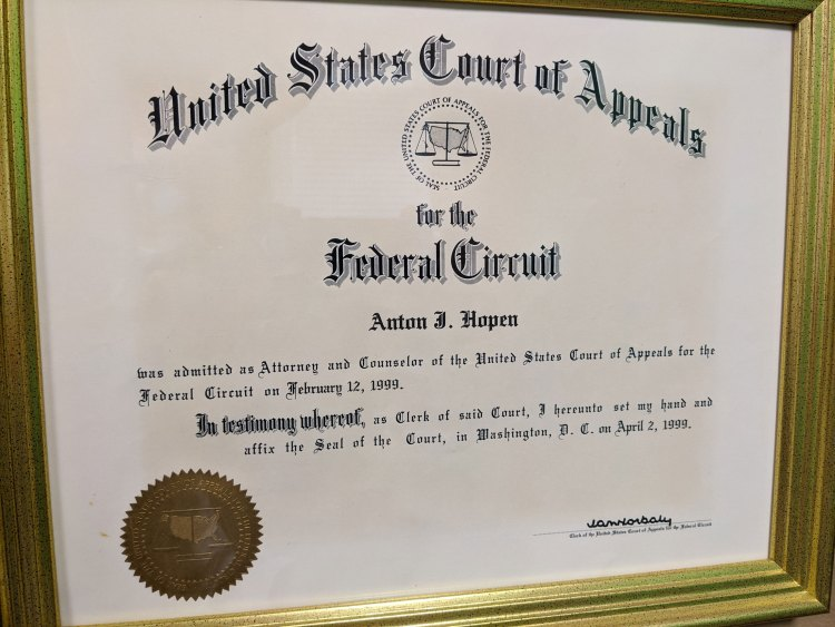 Federal Circuit Court of Appeals Admission