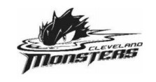 Image of CLEVELAND MONSTERS logo that is subject of opposition proceeding
