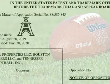 NFL Trademark Opposition
