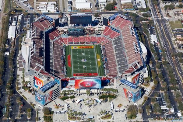 Tampa Bay Buccaneers stadium; home of Super bowl LV