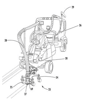 Patent drawing from a patent that was the basis for the Federal Circuit IPR win