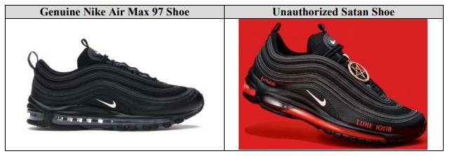 Comparison of Nike Air Max 97 and Satan Shoe