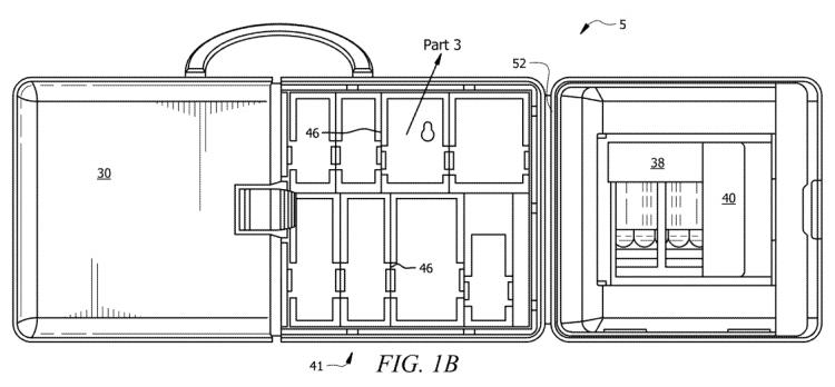 Figure 1B Easy access bandages | U.S Patent 11,065,074