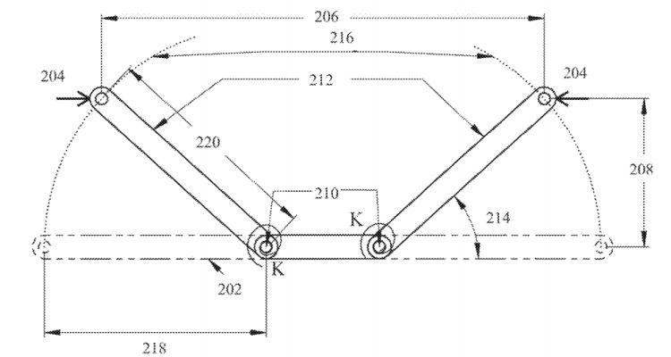 Figure 2B  bi-stable compliant crank-slider-mechanism  | U.S Patent 11067118