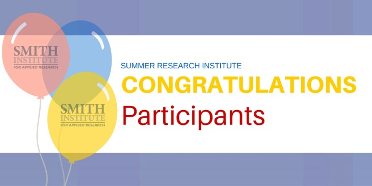 Congratulations Summer Research Institute Twitter Post