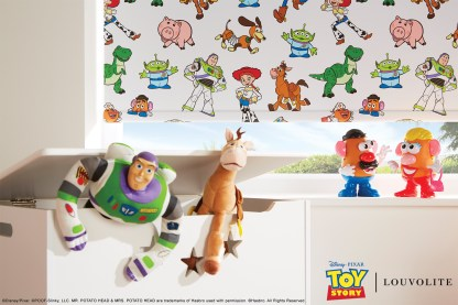 disney toy story roller blind close up