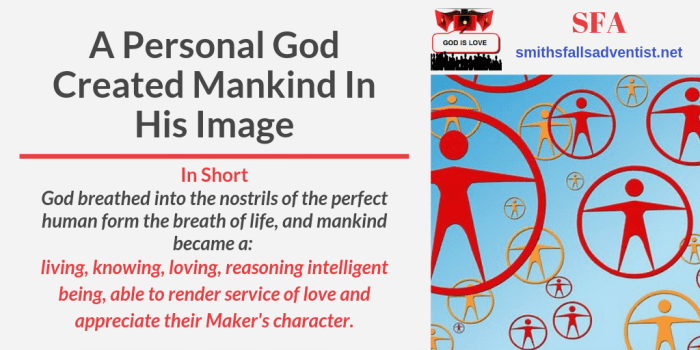 Illustration-Title-A Personal God Created Mankind In His Image-text-logo