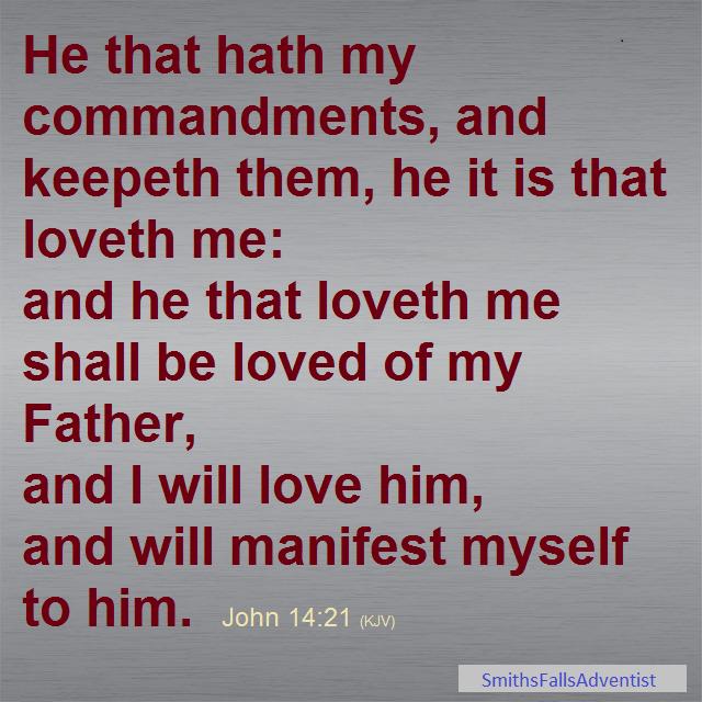 John 14 verse 21 on background image
