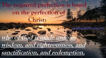 Bible text, 1 Corinthians 1 verse 30, lake, bible-text