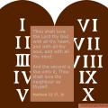 The ten commandments, the law of God