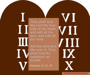 The ten commandments-low of God