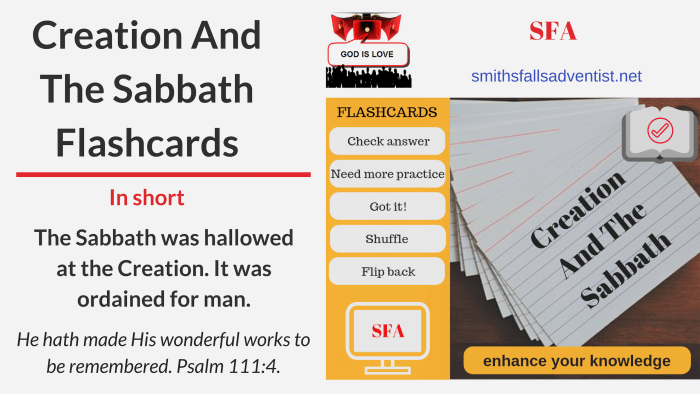 Illustration-Title-Creation And The Sabbath-text-flashcards