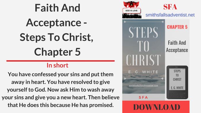 Illustration-Title-Faith And Acceptance - Steps To Christ, Chapter 5-logo-text