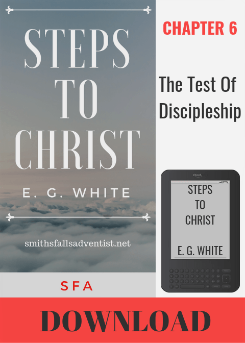 Illustration-Ebook Steps To Christ, Chapter 6 - The Test Of Discipleship-text-logo