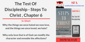 Illustration-Title-The Test Of Discipleship - Steps To Christ , Chapter 6-text-logo