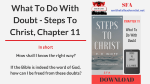 Illustration-Title-What To Do With Doubt - Steps To Christ, Chapter 11-logo-text