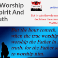 Illustration-Title-How To Worship God In Spirit And Truth