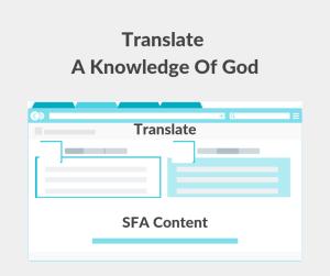 Illustration-Translate A Knowledge Of God
