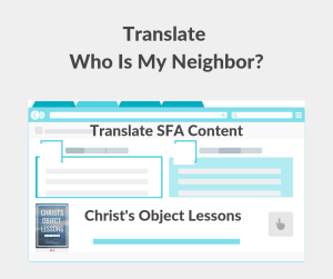 Illustration-Translate Who Is My Neighbor-text