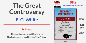 Illustration - Title - The Great Controversy - text - background