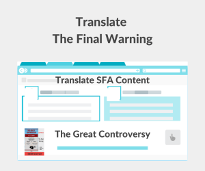 Illustration - Translate The Final Warning -text