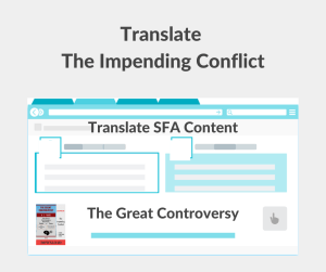 Illustration - Translate The Impending Conflict - The Great Controversy - text