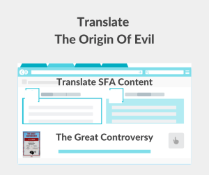 Illustration - Translate The Origin Of Evil - The Great Controversy - text
