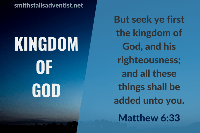 Illustration - Kingdom Of Gog in Matthew 6 verse 33 - text - Bible verse - background - sky