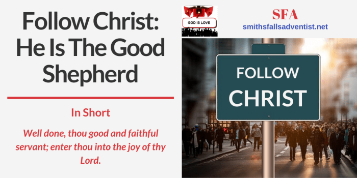 Illustration-Title-Follow Christ-people-street-text-Bible verse.