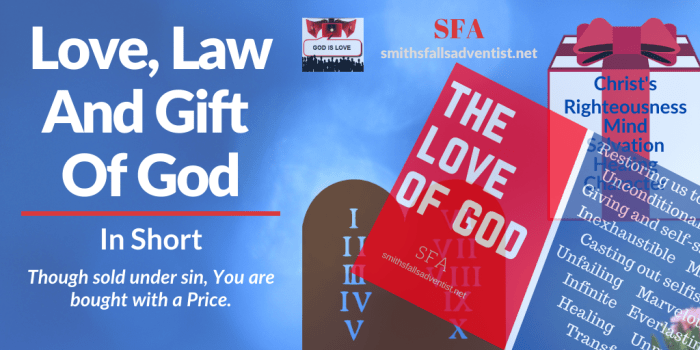 Illustration-background-Title - Love, Law And Gift Of God-text-Bible verse