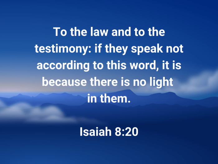 Illustration-blue sky with clouds-title-Law and testimony in Isaiah 8 verse 20-Bible text