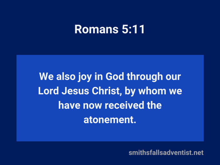 Illustration-background-dark and light blue-title-Received atonement in Romans 5 verse 11-Bible text