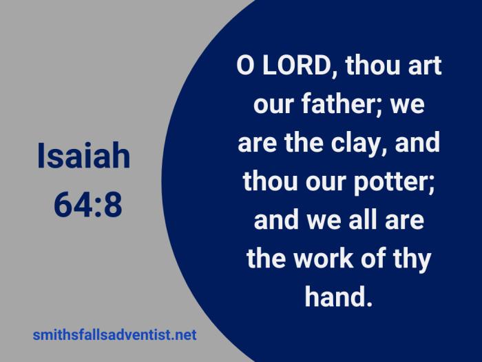 Illustration-background-dark blue circle-title-Work of thy hand-text-Bible verse