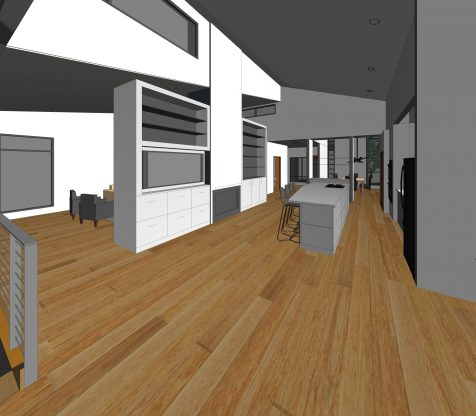 2016014_Benjey Residence - 3D View - SUNROOM - KITCHEN
