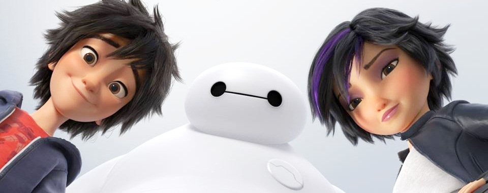 Big Hero 6 stars (L to R): Hiro Hamada, Baymax & GoGo Tomago. Source: disney.wikia.com