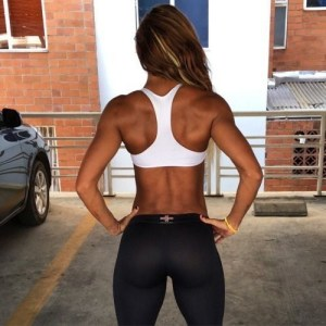 Girl with back muscles